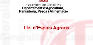 Présentation de la loi agraire catalane de 2019
